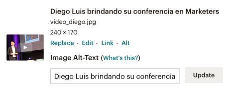 """En esta imagen se ve que el alt text en Mailchimp se pone donde dice """"Image Alt-Text"""""""