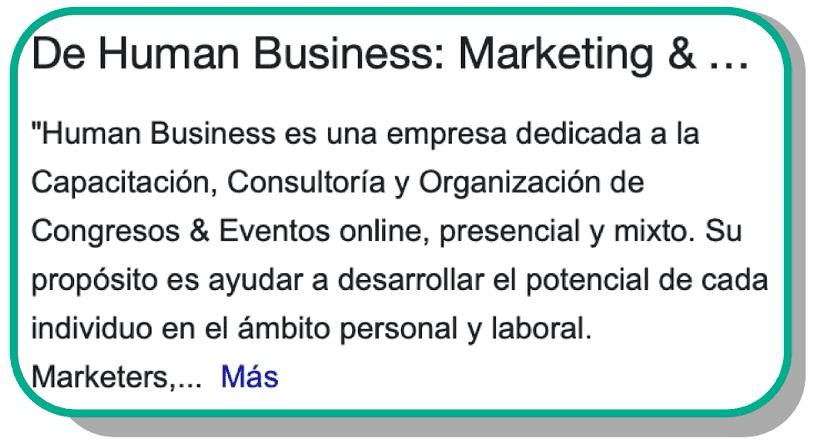 Descripción del negocio en Google My Business