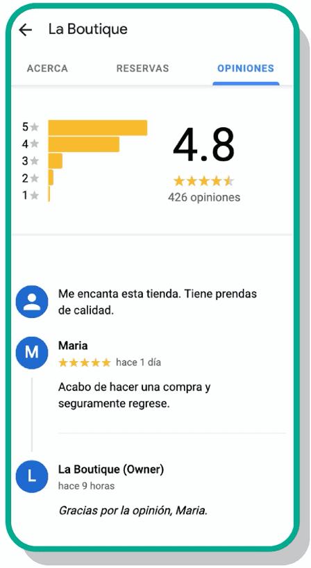 Reviews en Google My Business